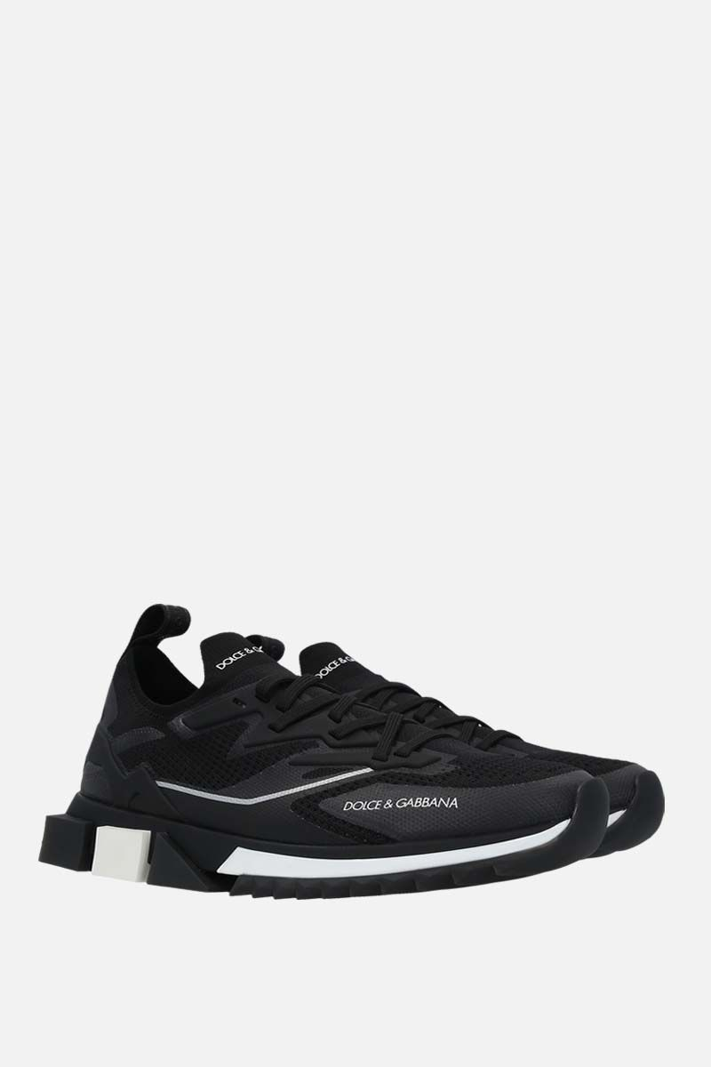 DOLCE & GABBANA: Sorrento New stretch knit sneakers Color Black_2