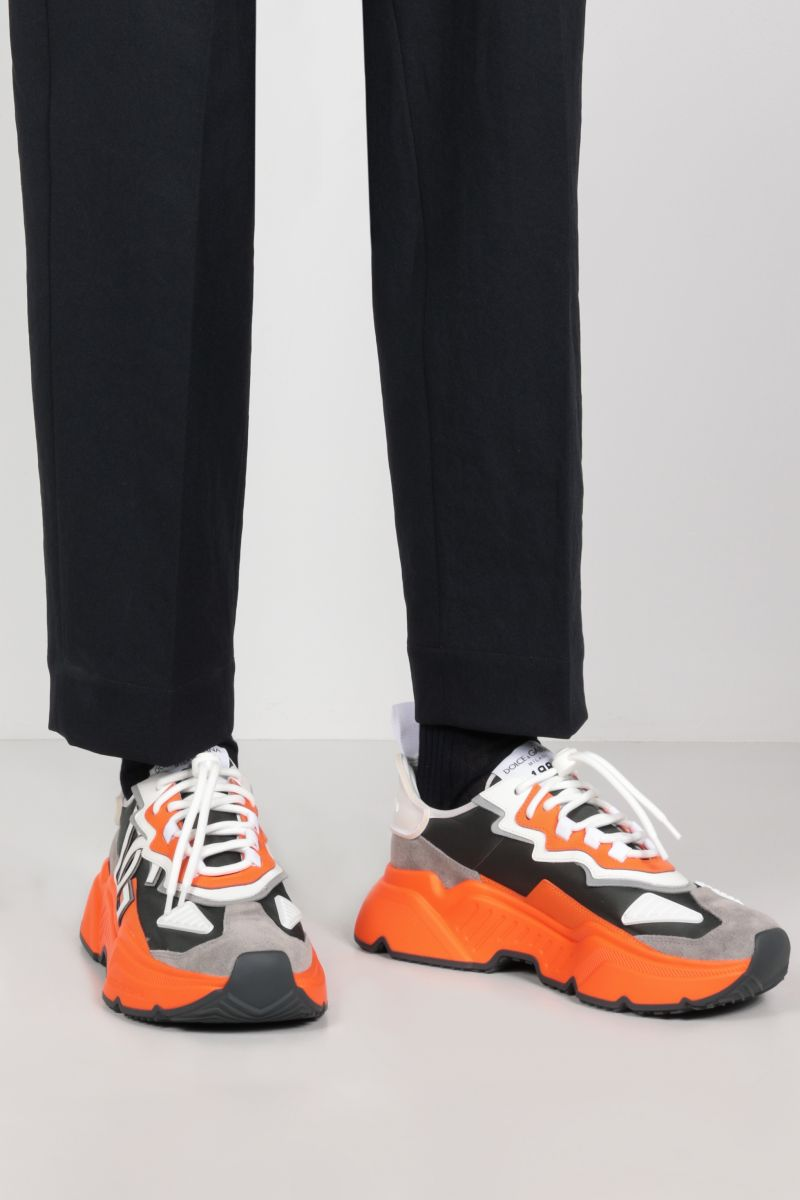 DOLCE & GABBANA: Daymaster sneakers in a mix of materials Color Multicolor_2