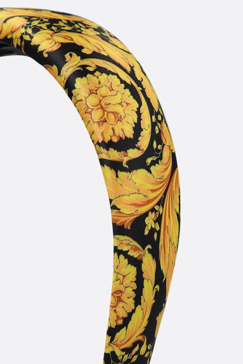 VERSACE: Barocco twill print hedband Color Black_2