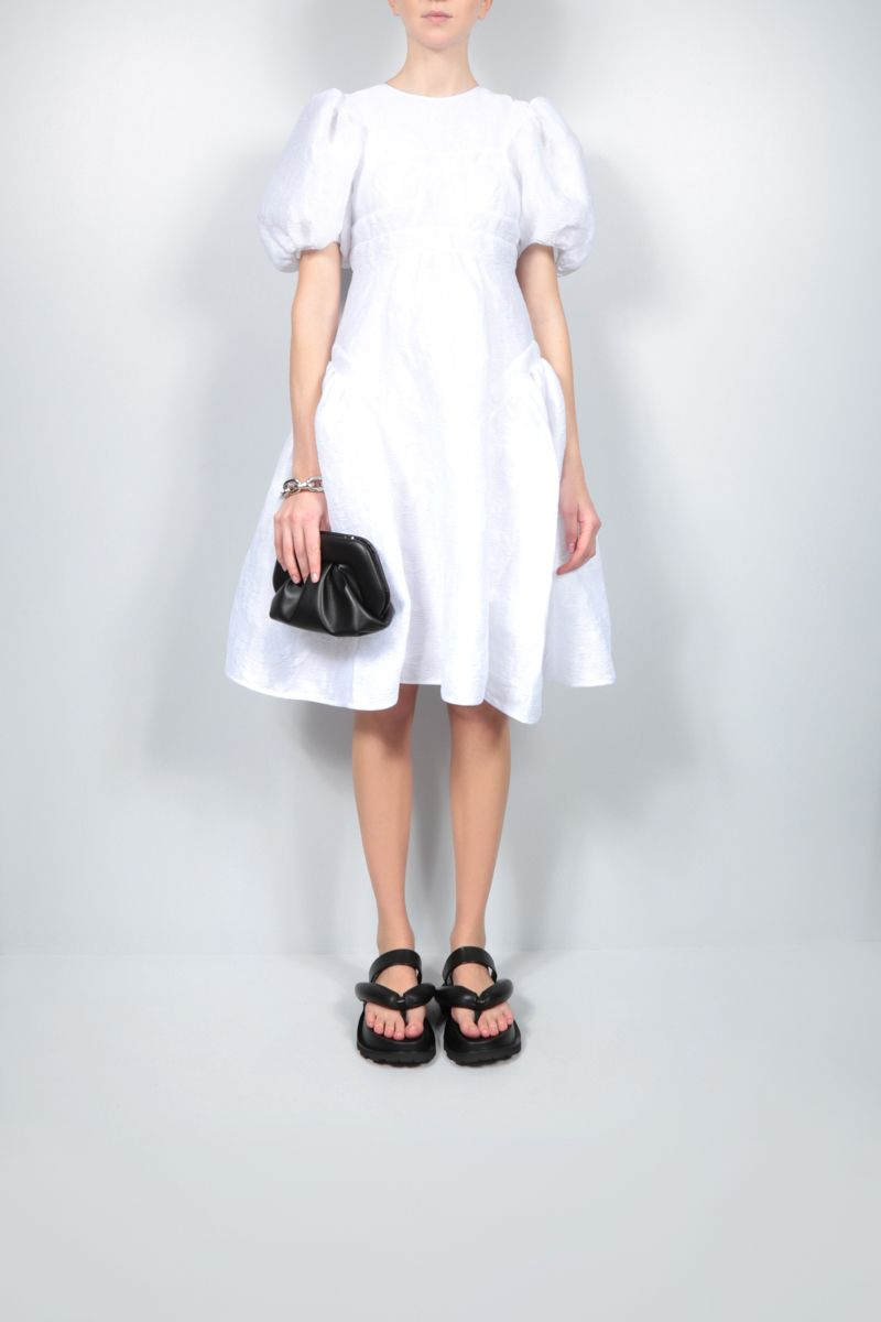 CECILIE BAHNSEN: Caitlin quilted organdy short dress Color White_2