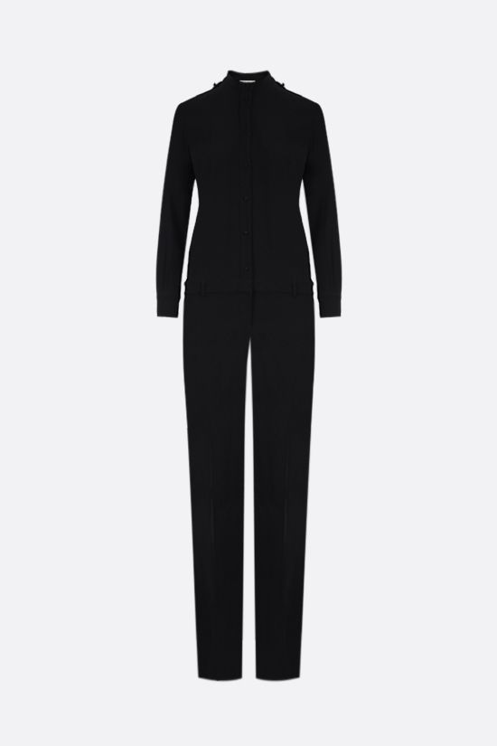 CELINE: trompe l'oeil crepe jumpsuit Color Black_1