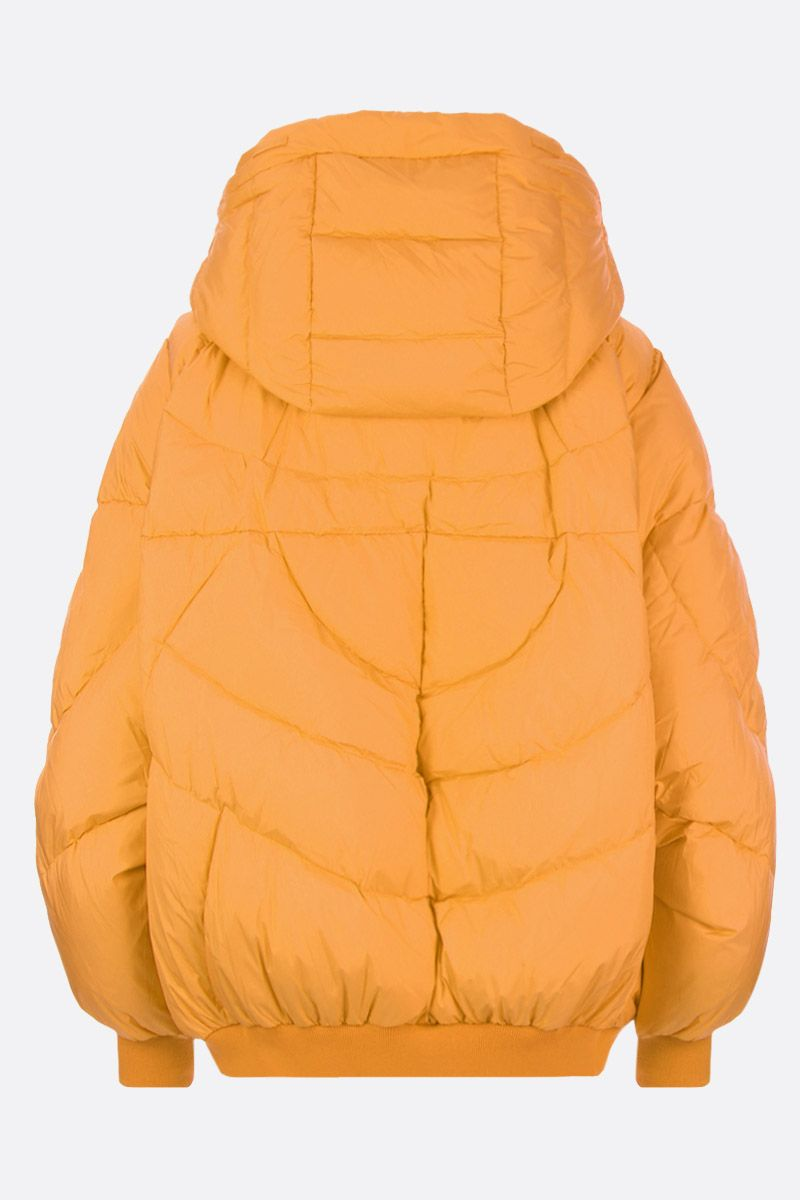 CHEN PENG: oversized down jacket in technical fabric Color Orange_2