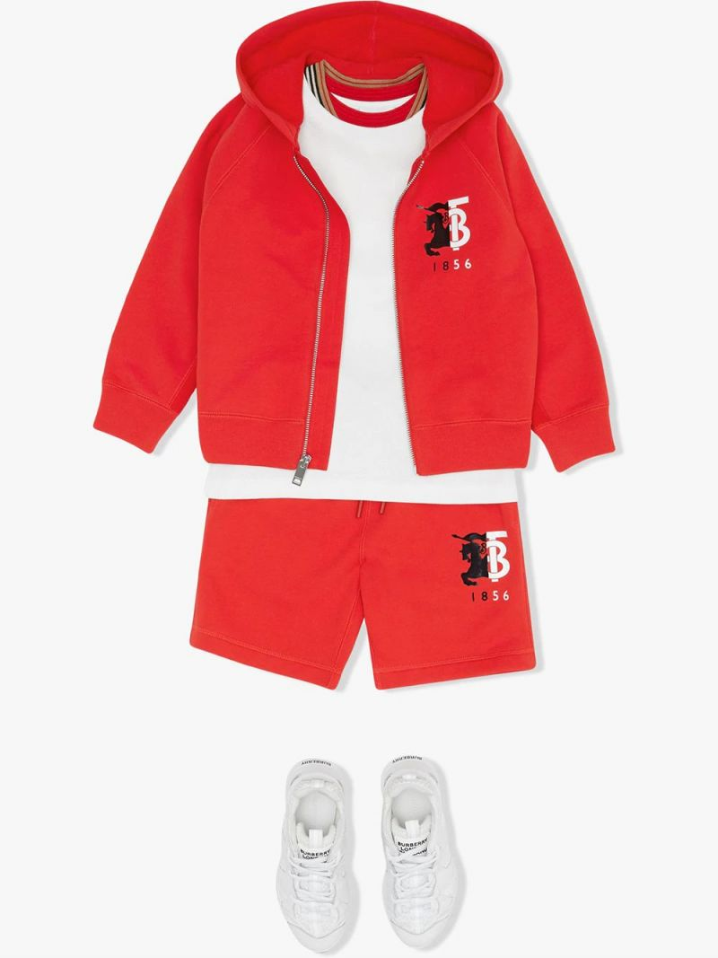 BURBERRY CHILDREN: graphic logo print cotton full-zip hoodie_2