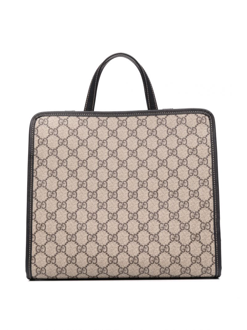 GUCCI CHILDREN: ladybug patch GG Supreme coated canvas shopping bag Color Neutral_2