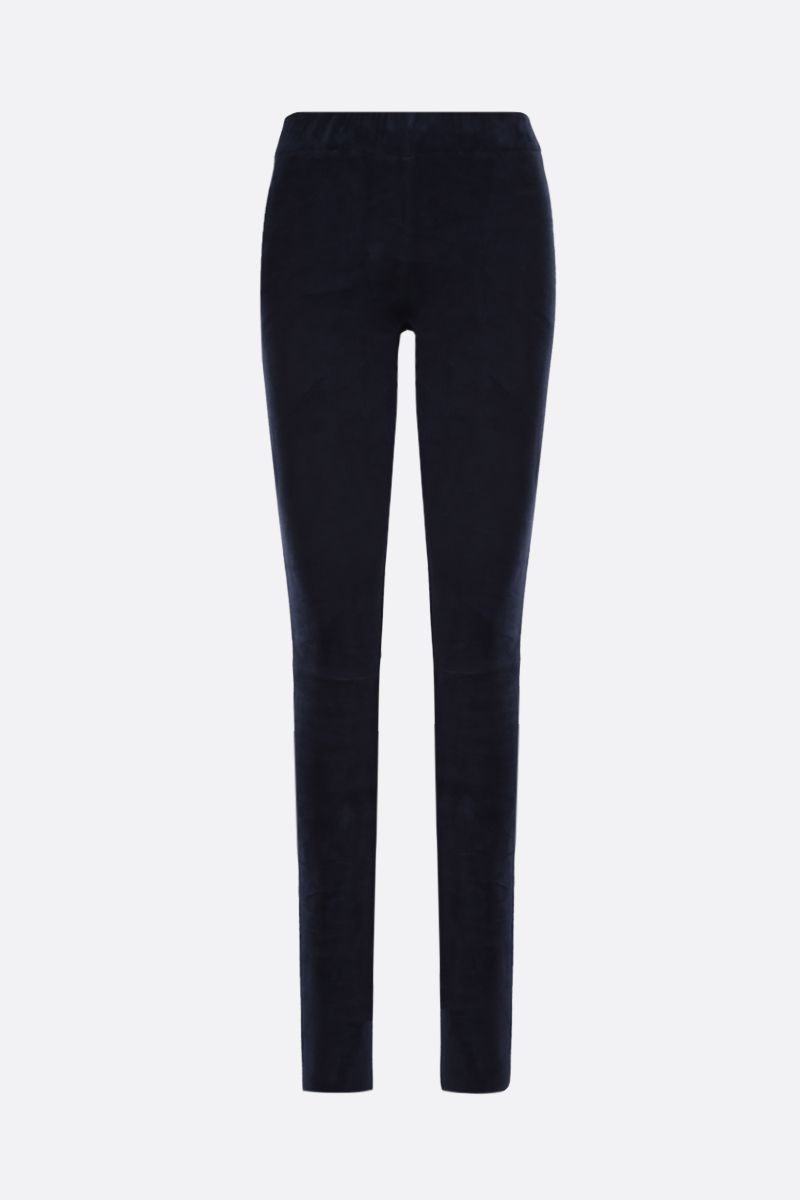 SYLVIE SCHIMMEL: legging Fun in suede stretch Colore Blu_1