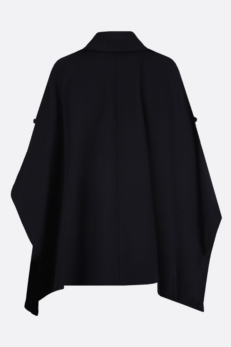 SEE BY CHLOÈ: gabardine double-breasted cape Color Grey_2