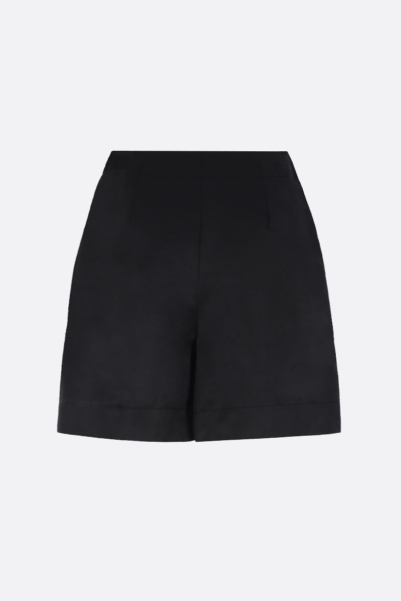SEE BY CHLOÈ: technical cotton shorts Color Black_2