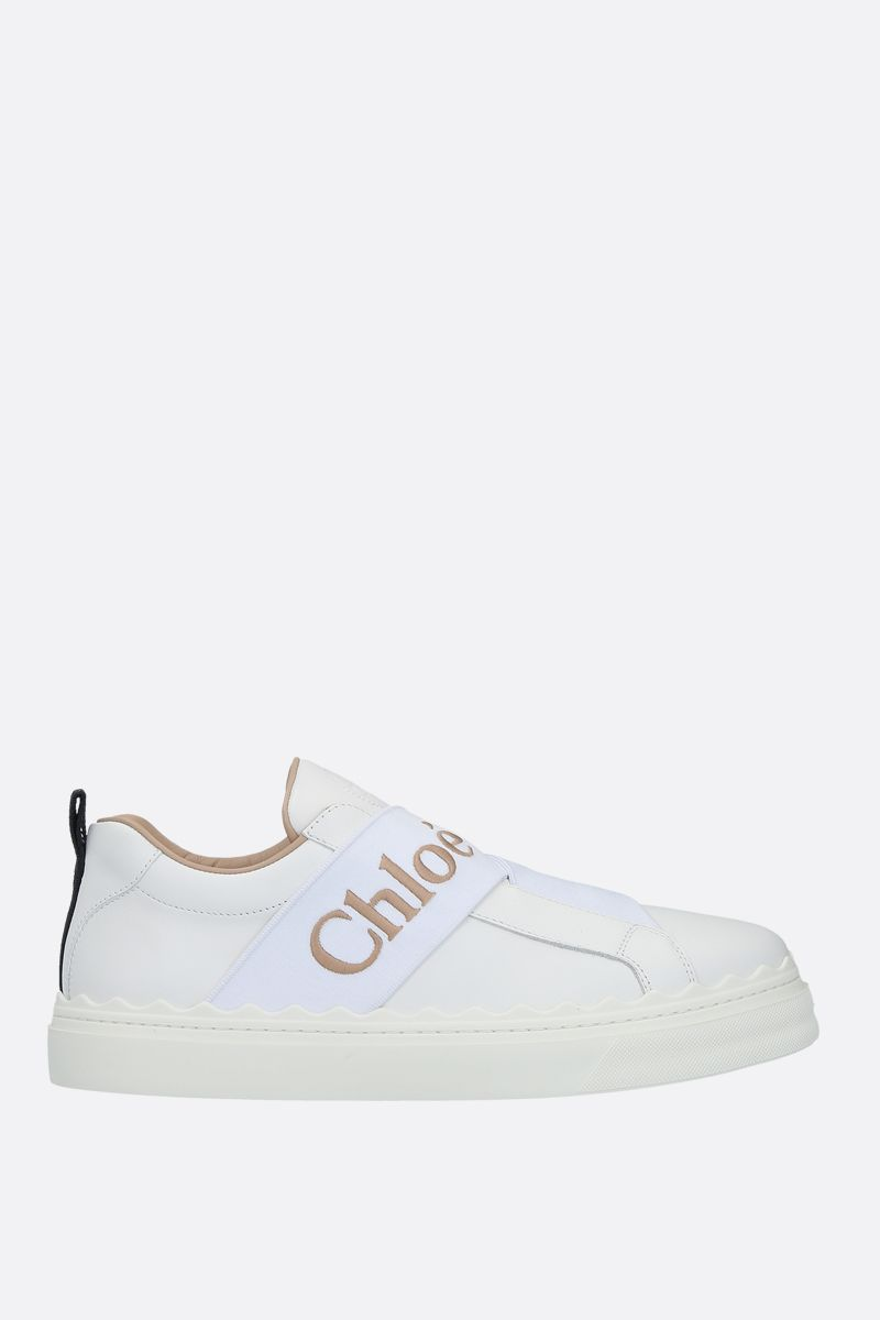 CHLOÈ: Lauren smooth leather slip-on sneakers Color White_1