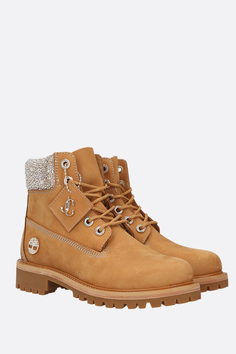 JIMMY CHOO: JC xTimberland/F nabuck boots Color Yellow_2