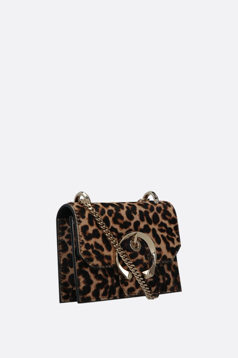 JIMMY CHOO: borsa a tracolla mini Paris in cavallino leopardato Colore Animalier_2