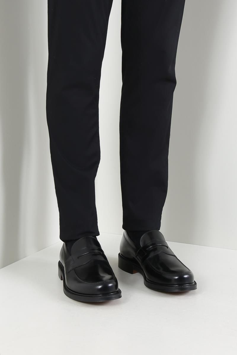 CHURCH'S: Staden loafers in brushed calf Color Black_2