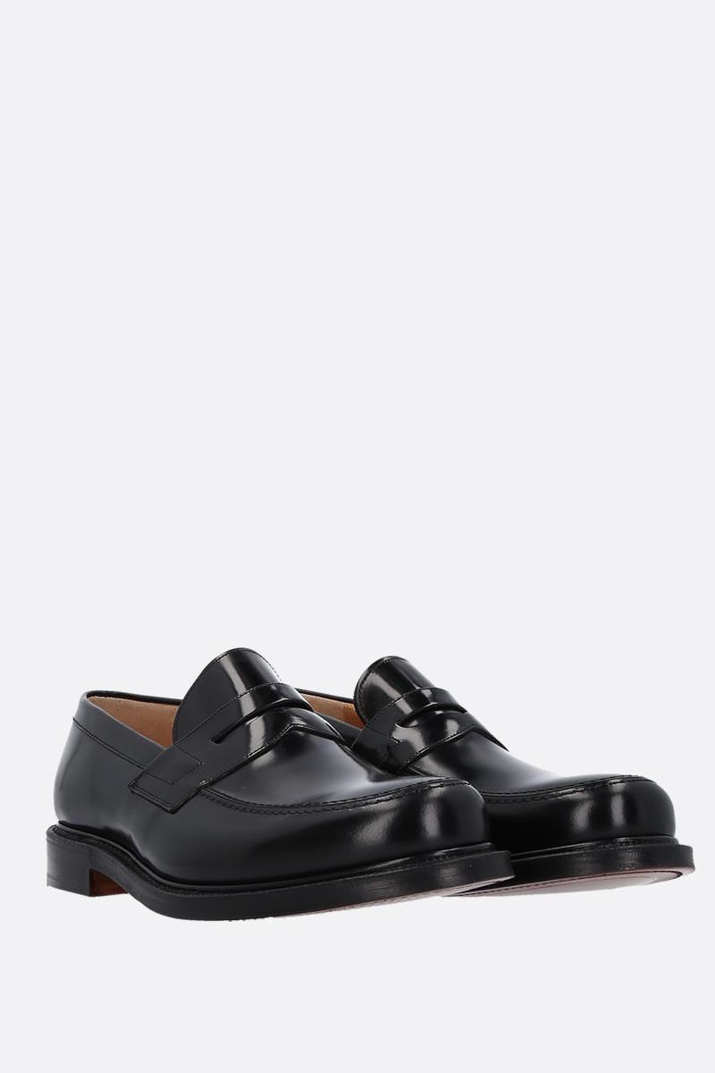 CHURCH'S: Staden loafers in brushed calf Color Black_3