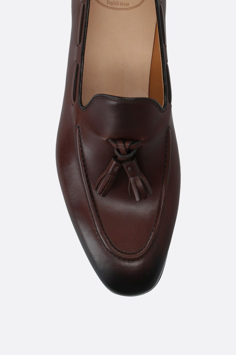 CHURCH'S: Doughton smooth leather loafers Color Brown_5