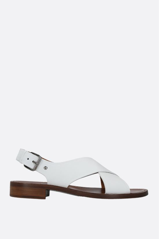 CHURCH'S: Rhonda smooth leather flat sandals Color White_1