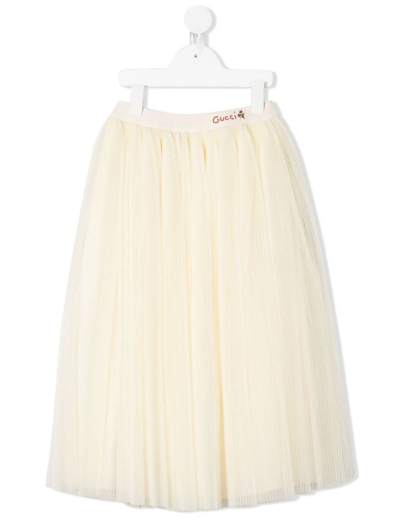 GUCCI CHILDREN: multi-layer tulle circle skirt Color Neutral_1
