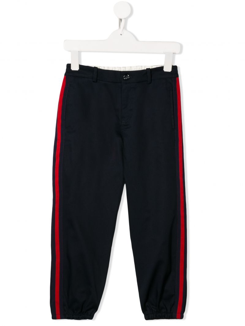 GUCCI CHILDREN: stretch cotton joggers with Web details_1