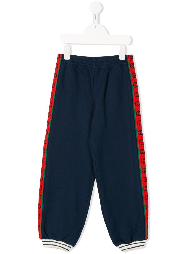 GUCCI CHILDREN: GG bands cotton joggers_1