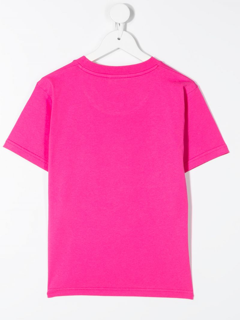BALENCIAGA KIDS: Bonjour Balenciaga cotton t-shirt Color Pink_2
