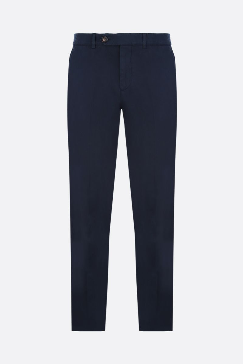 BRUNELLO CUCINELLI: pantalone chino regular-fit in cotone Colore Blu_1