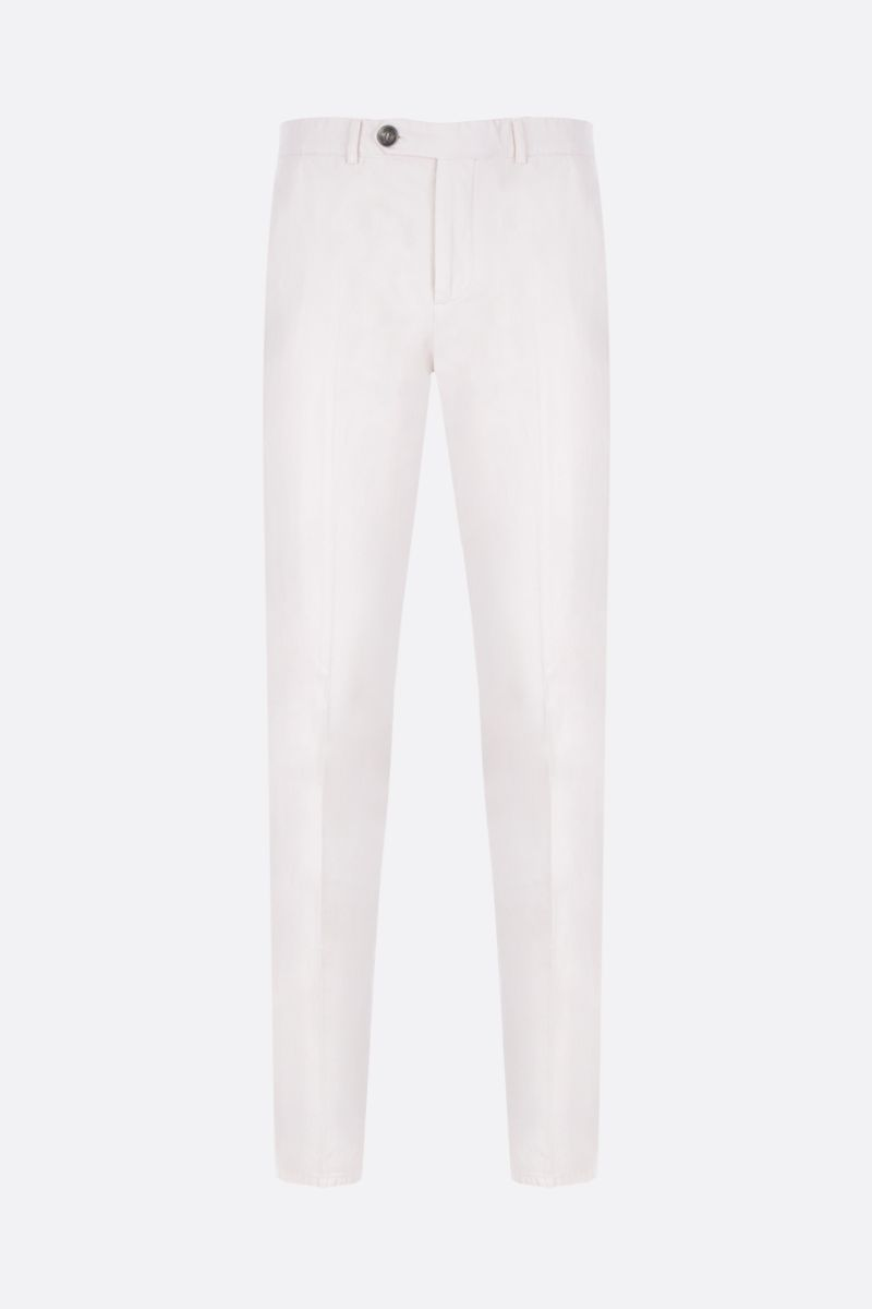 BRUNELLO CUCINELLI: regular-fit chino pants in cotton Color White_1