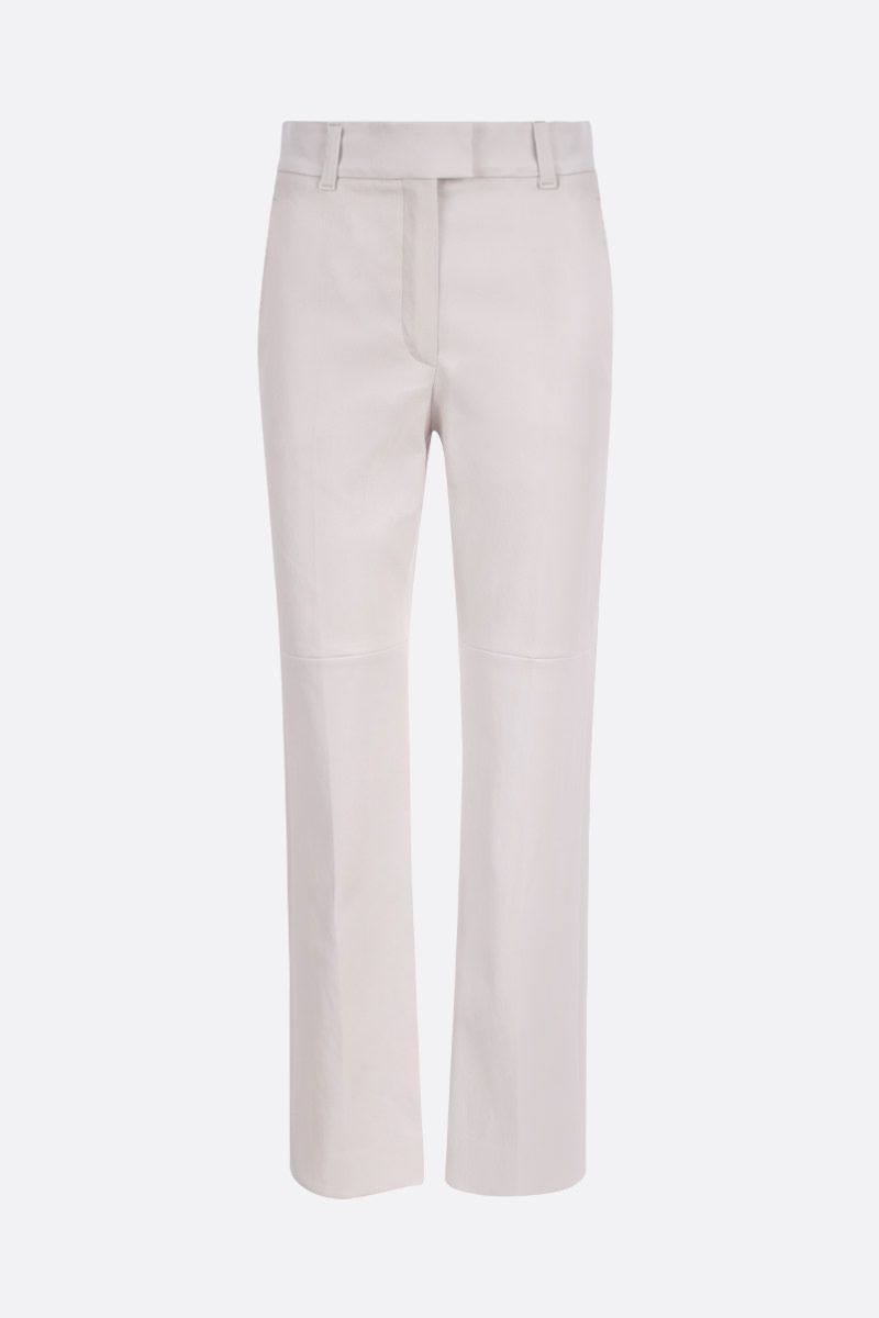 BRUNELLO CUCINELLI: stretch nappa slim-fit pants Color Neutral_1