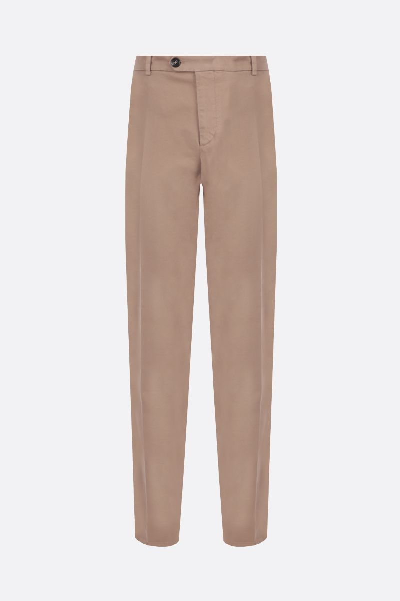 BRUNELLO CUCINELLI: stretch cotton Italian-fit pants Color Brown_1
