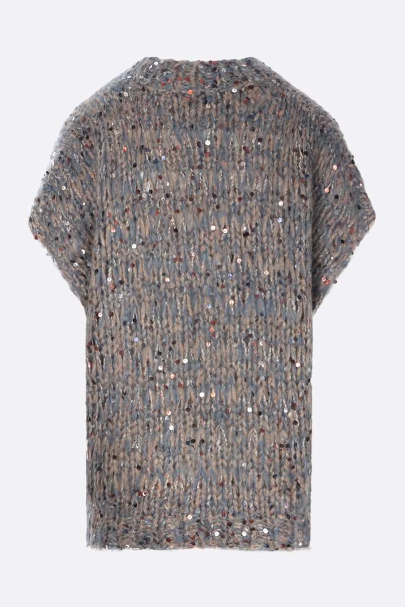 BRUNELLO CUCINELLI: sequinned mohair blend sleeveless pullover Color Multicolor_2
