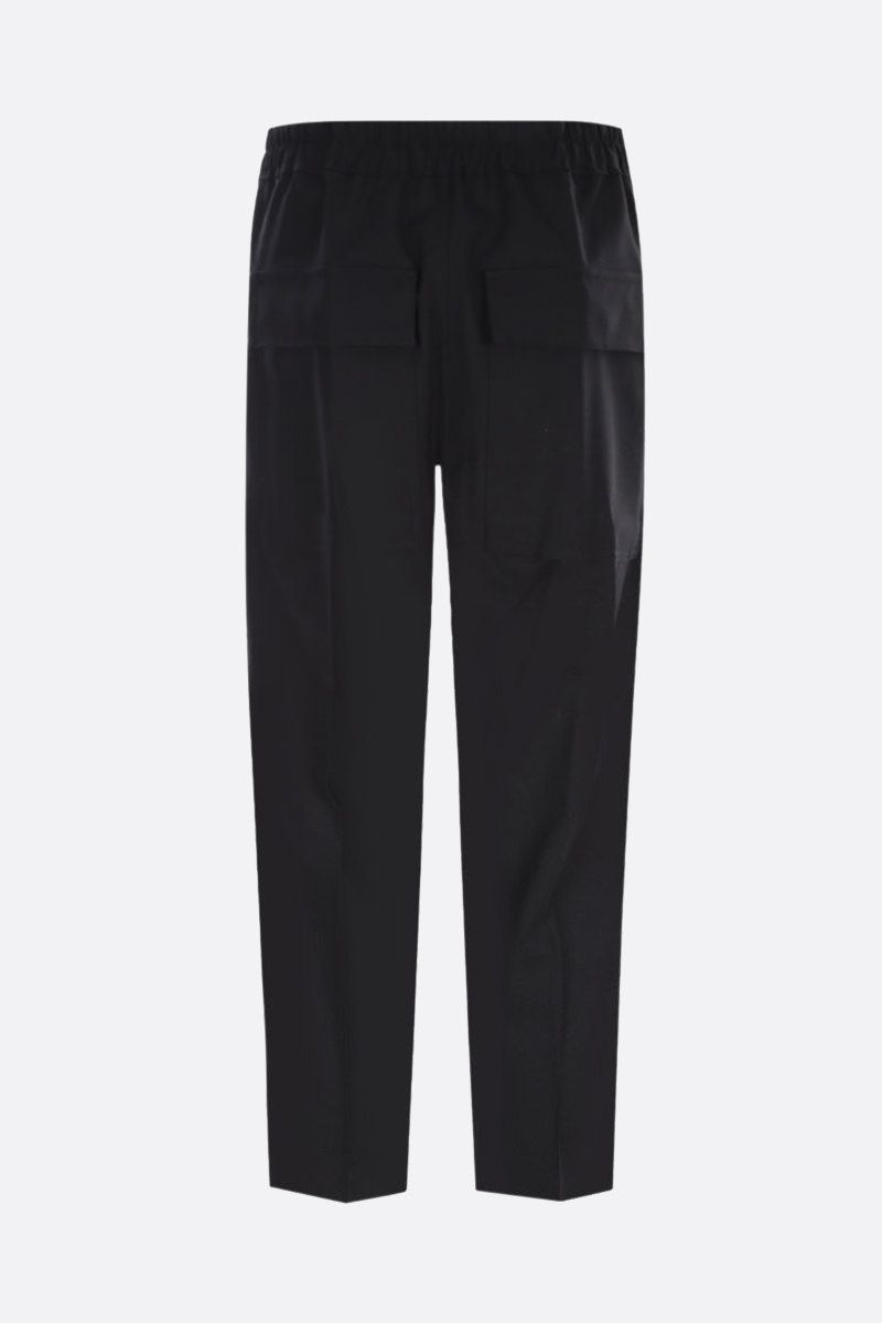 RICK OWENS: pantalone cropped Astaires in lana stretch Colore Black_2