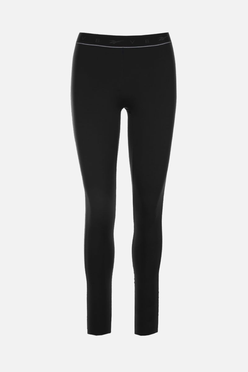REEBOK X VICTORIA BECKHAM: RBK Victoria Beckham technical jersey performance tights Color Black_1