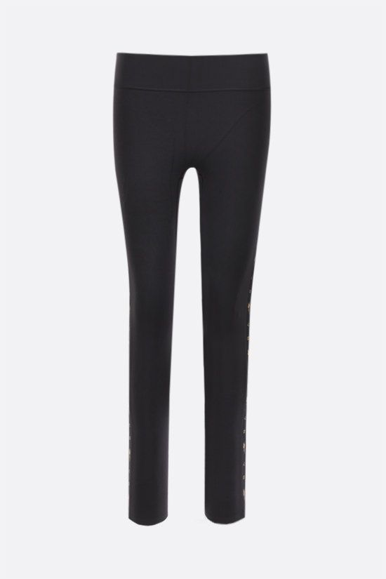 REEBOK X VICTORIA BECKHAM: Reebok Victoria Beckham technical jersey cropped leggings Color Black_1