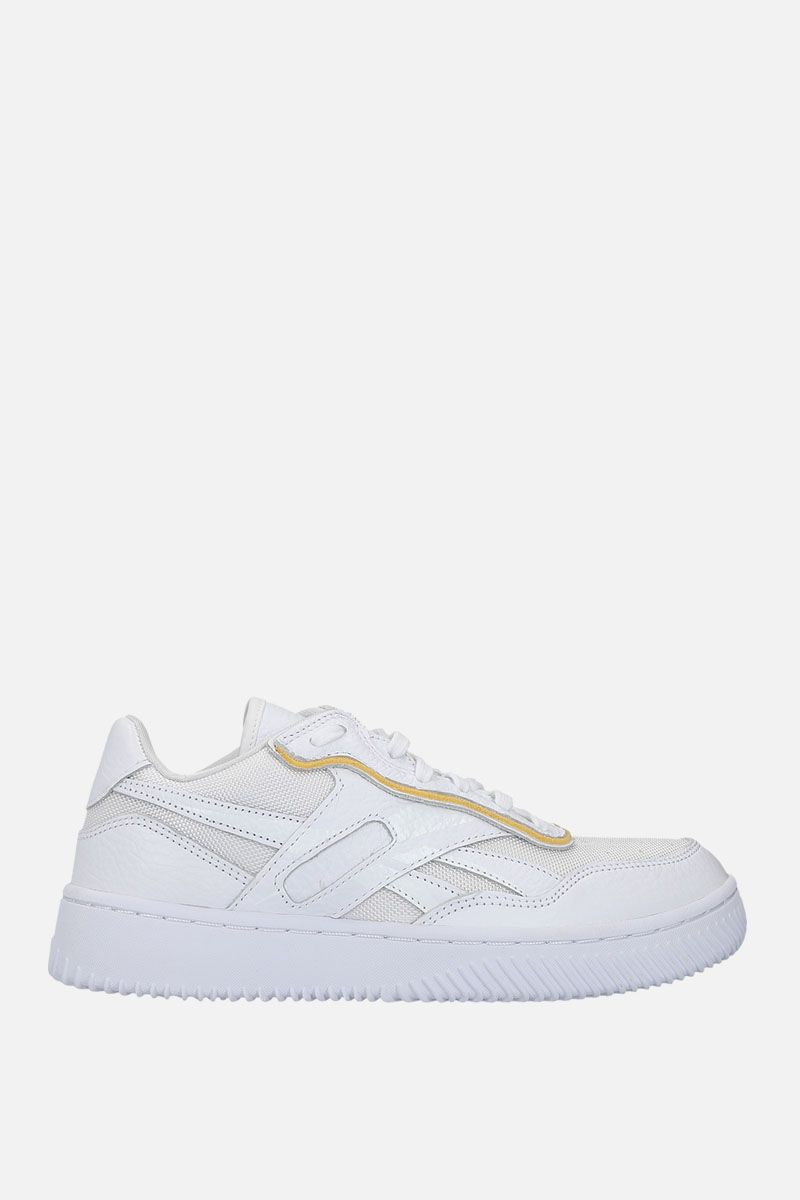 REEBOK X VICTORIA BECKHAM: Dual Court II VB sneakers in leather and technical fabric Color White_1