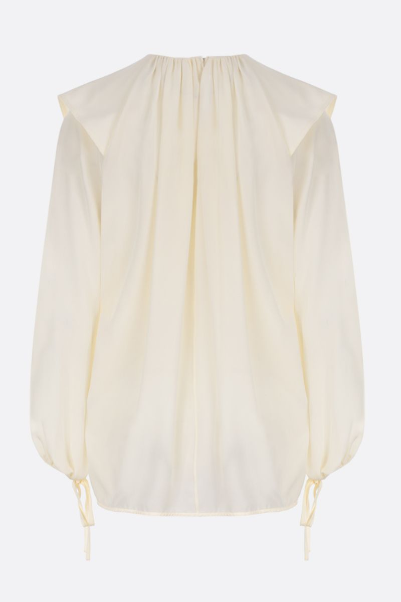 VICTORIA BECKHAM: crepe de chine blouse Color White_2