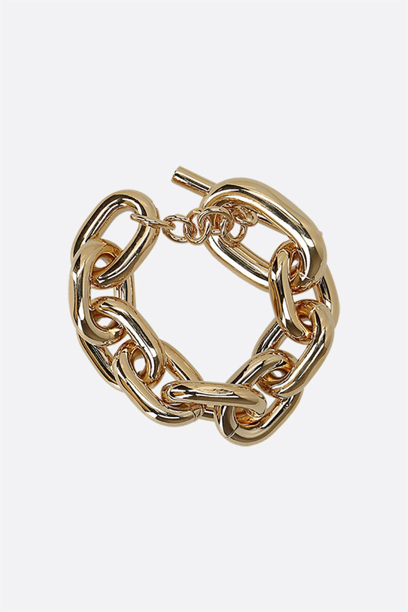 PACO RABANNE: brass chain bracelet Color Gold_1