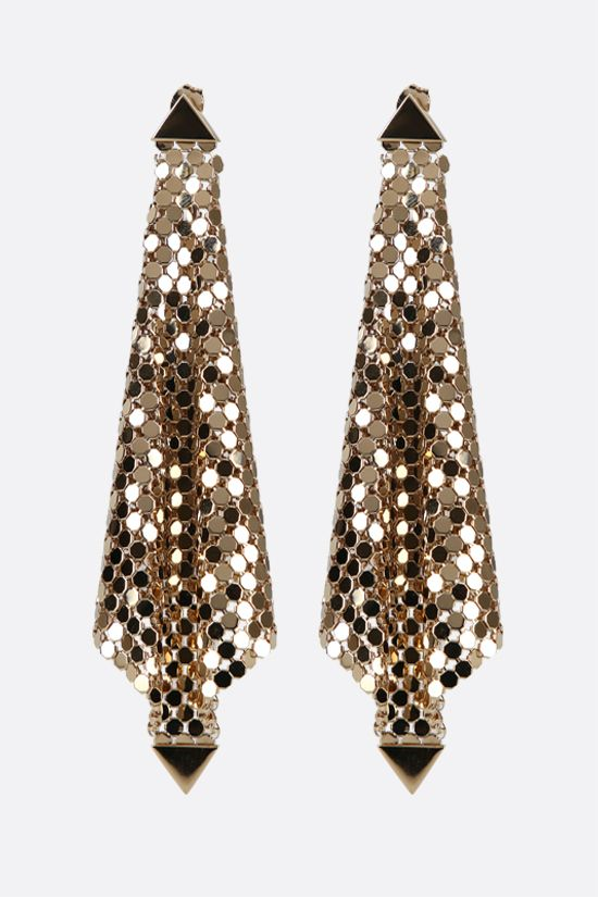PACO RABANNE: metal mesh earrings Color Gold_1