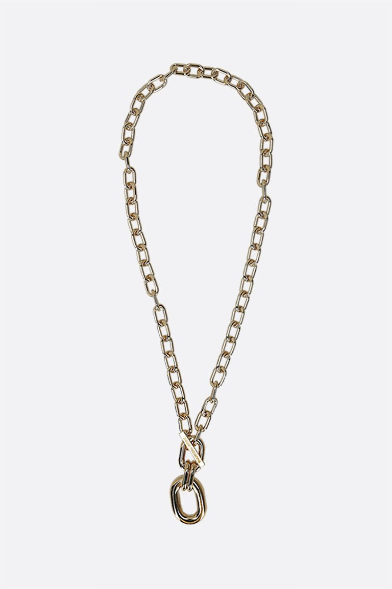 PACO RABANNE: brass chain necklace Color Gold_1