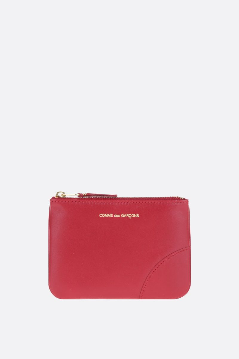 COMME des GARCONS WALLET: busta small in pelle liscia Colore Rosso_1