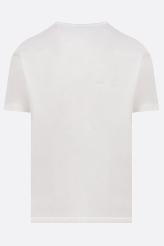 CP COMPANY: logo print cotton t-shirt Color White_2