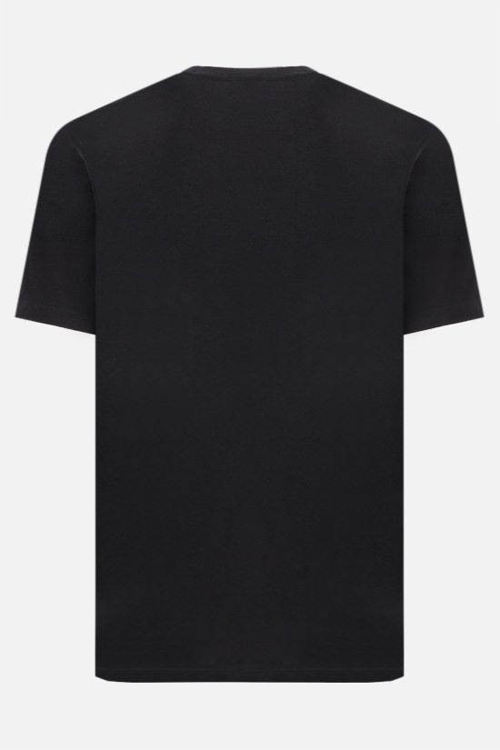 CP COMPANY: logo print cotton t-shirt Color Black_2