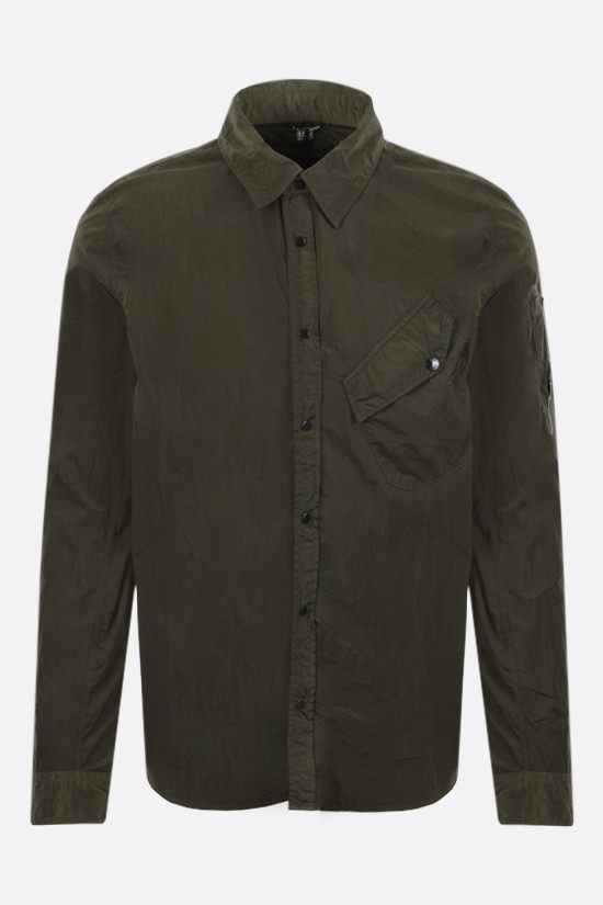 CP COMPANY: reflective nylon overshirt Color Green_1