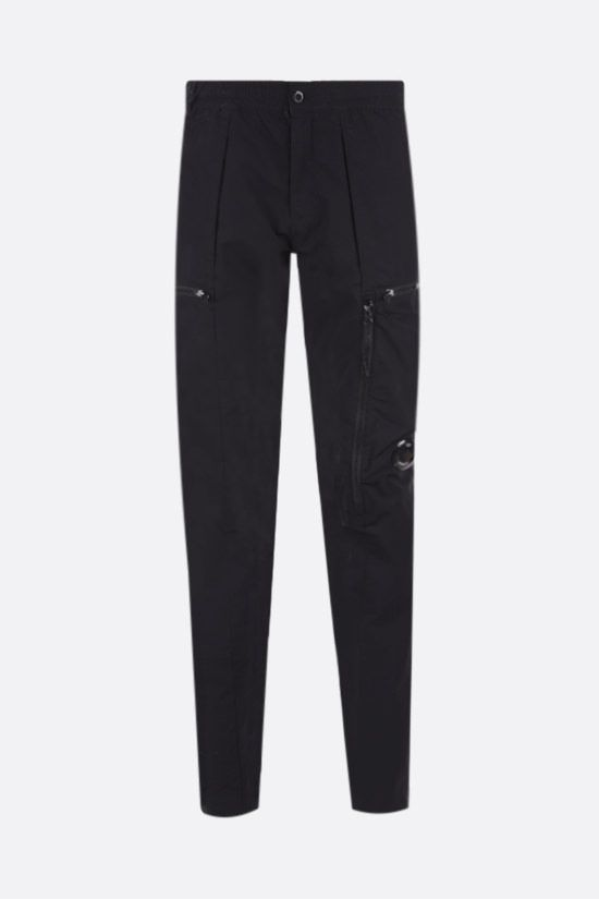 CP COMPANY: stretch nylon cargo pants Color Black_1