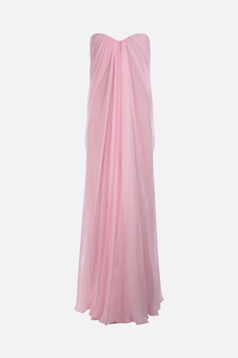 ALEXANDER McQUEEN: chiffon bustier dress Color Pink_1