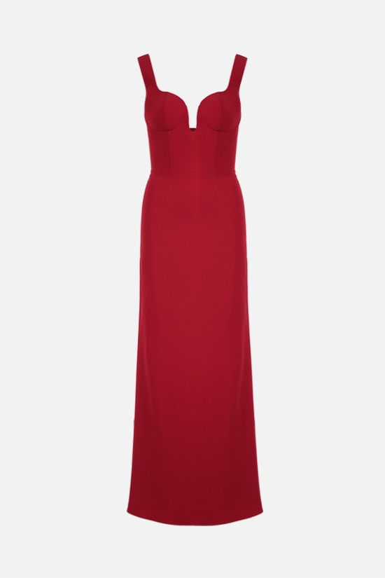 ALEXANDER McQUEEN: crepe long dress Color Red_1