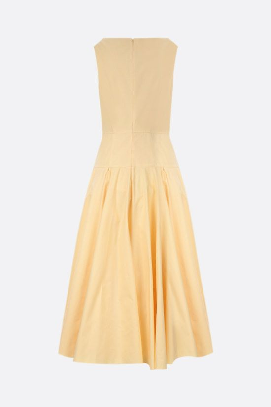 ALEXANDER McQUEEN: poplin midi dress Color Yellow_2