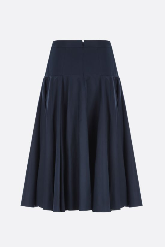 ALEXANDER McQUEEN: poplin darted midi skirt Color Blue_2