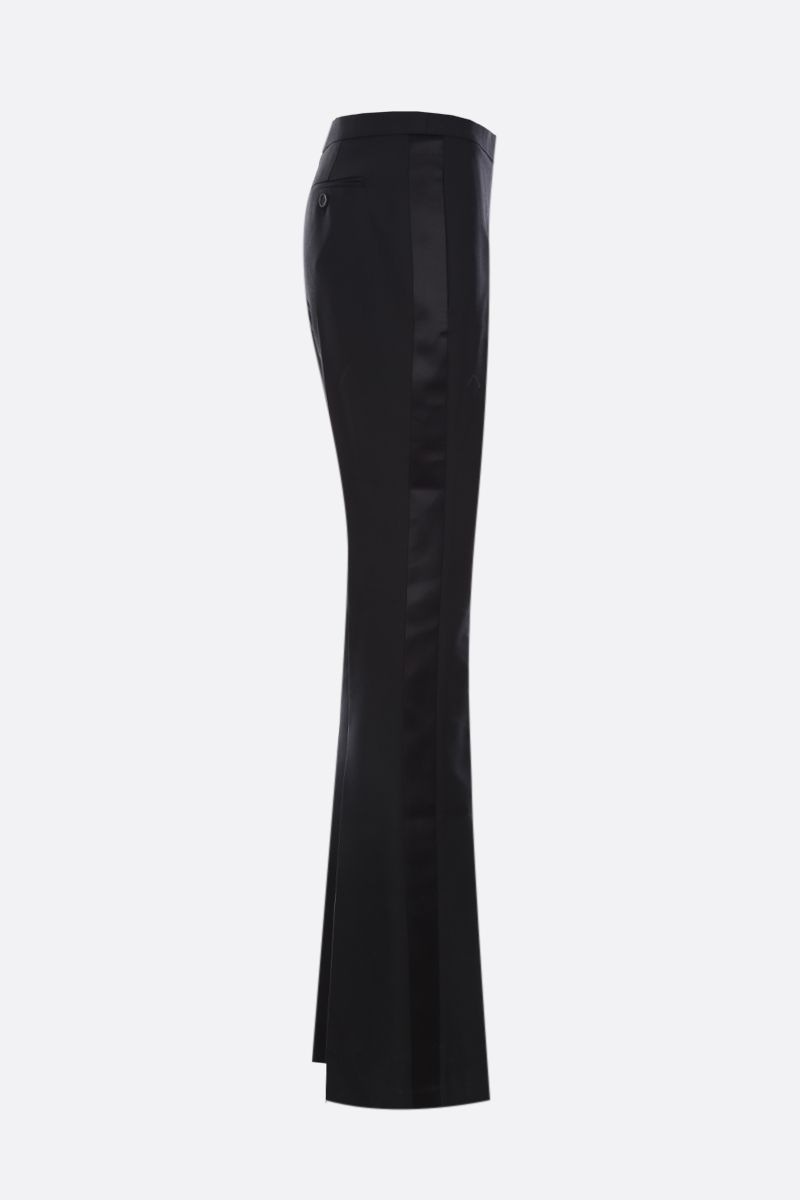 ALEXANDER McQUEEN: silk and lightweight wool texudo pants Color Black_2