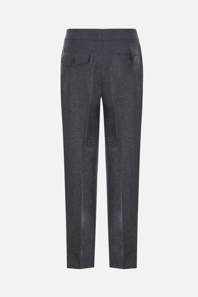 ALEXANDER McQUEEN: wool darted pants Color Black_2