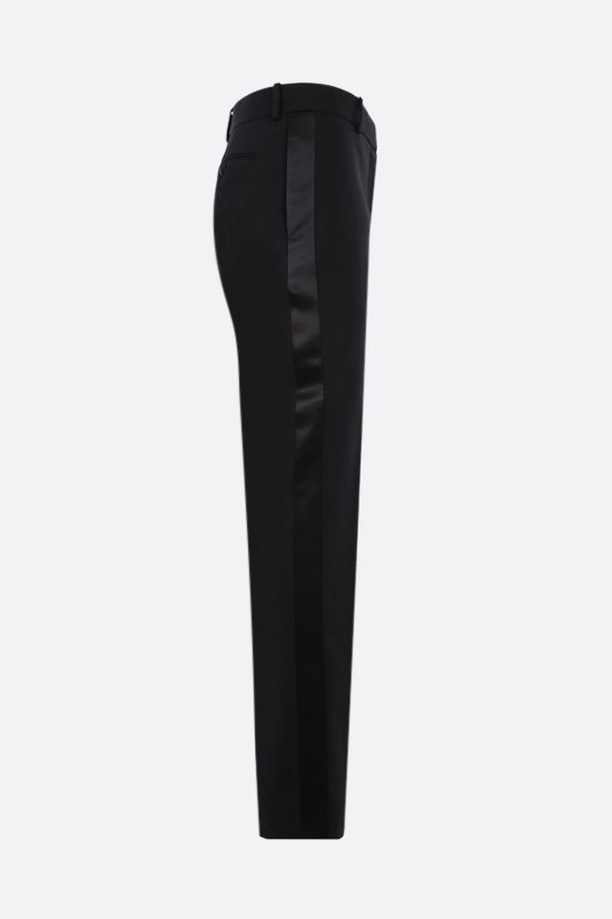 ALEXANDER McQUEEN: wool tuxedo pants Color Black_2