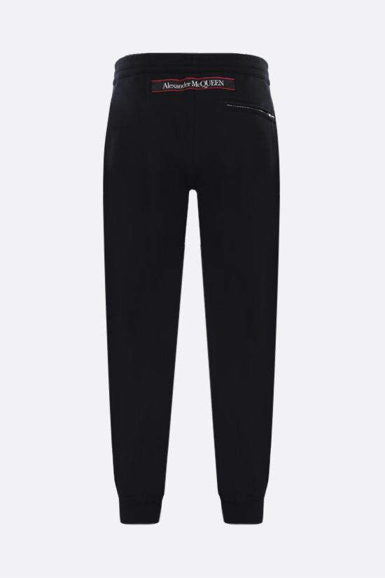 ALEXANDER McQUEEN: logo-detailed cotton joggers Color Black_2