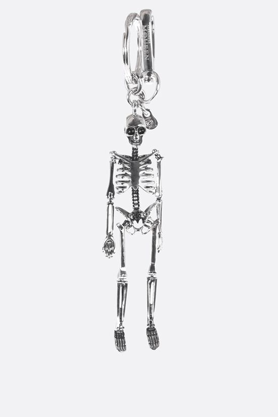 ALEXANDER McQUEEN: Skeleton metal jey holder Color Black_1
