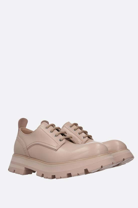 ALEXANDER McQUEEN: shiny leather derby shoes Color Pink_2